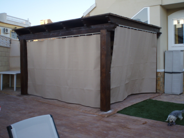toldo cortina terraza